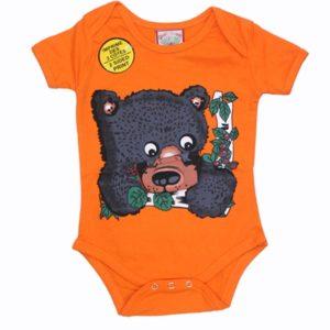 INFANT ONESIE BLACK BEAR  & TOWN NAME