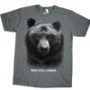 ADULT T-SHIRT WITH BLACK BEAR HEAD & TOWN NAME