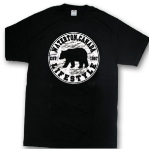 ADULT T-SHIRT WITH BEAR LIFESTYLE & TOWN NAME