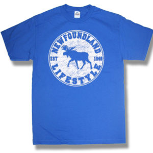 ADULT T-SHIRT WITH MOOSE LIFESTYLE &TOWN NAME