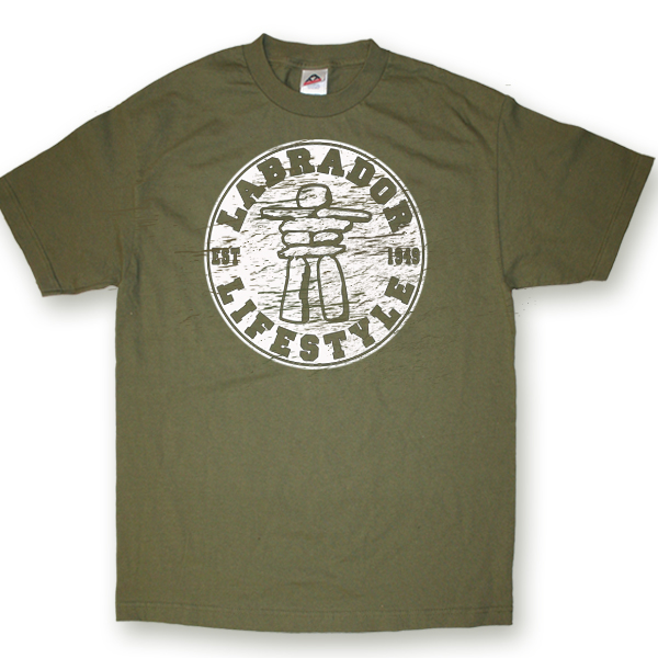ADULT T-SHIRT WITH INUKSHUK LIFESTYLE