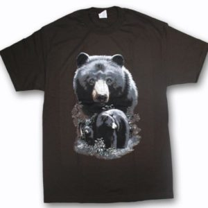 ADULT T-SHIRT WITH BLACK BEARS & TOWN NAME