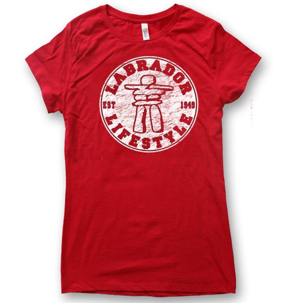 LADIES T-SHIRT  WITH INUKSHUK LIFESTYLE