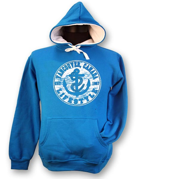 LADIES HOODIE WITH ANCHOR LIFESTYLE & TOWN NAME