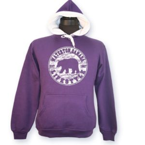 LADIES HOOD WITH BEAR LIFESTYLE & TOWN NAME