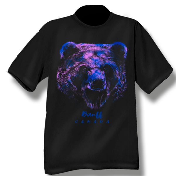 YOUTH T-SHIRT WITH RAINBOW BEAR HEAD & TOWN NAME
