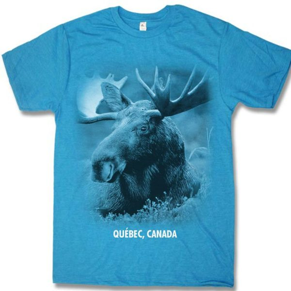 ADULT T-SHIRT WITH MOOSE HEAD & TOWN NAME