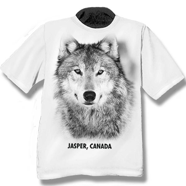 ADULT T-SHIRT WITH WOLF HEAD