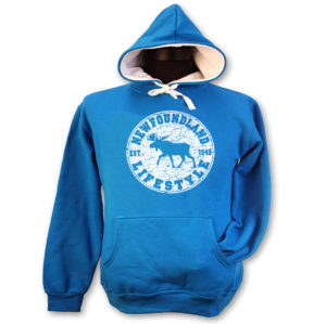 LADIES HOODIE WITH MOOSE LIFESTYLE & TOWN NAME