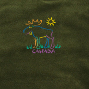 MOOSE OUTLINE EMBROIDERY