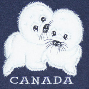2 SEALS APPLIQUE FULL FRONT EMBRODERY