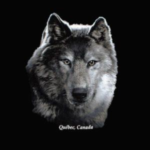 WOLF HEAD ON BLACK