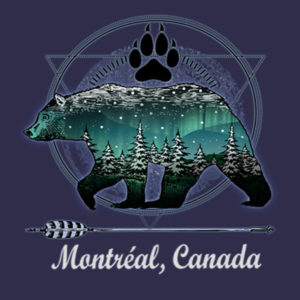 GRIZZLY BEAR W/PAW NORTHERN LIGHTS P502