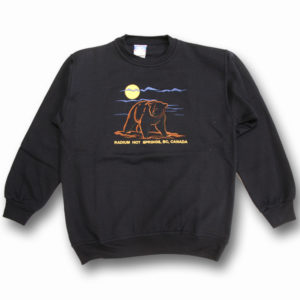 ADULT CREWNECK SWEAT WITH EMBROIDERY OUTLINE BEAR  &TOWN NAME
