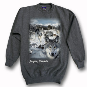ADULT CREWNECK SWEAT WITH NEW WOLVES SCENE &TOWN NAME