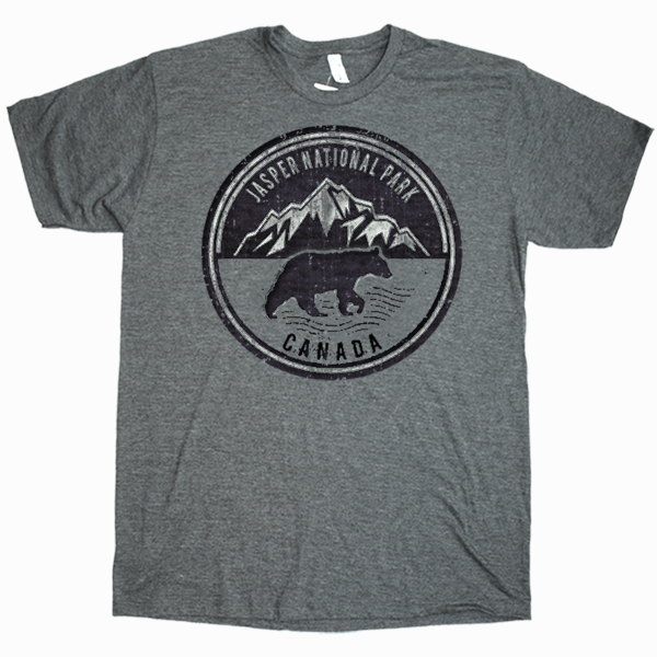 ADULT T-SHIRT WITH MOUNTAINS BLACK BEAR & TOWN NAME