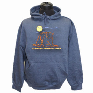 ADULT HOOD WITH FULL FRONT EMBROIDERY OUTLINE BEAR & TOWN NAME