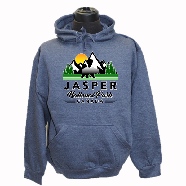 ADULT HOOD WITH  BEAR MOUNTAINS TREES & TOWN NAME