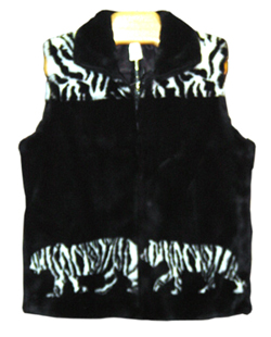 ADULT WHITE TIGER FUN FUR VEST
