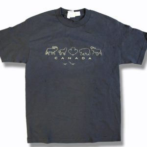 ADULT T-SHIRT WITH ANIMALS &TOWN NAME