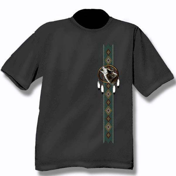 ADULT T-SHIRT WITH DREAMCATCHER & TOWN NAME