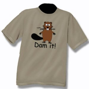 ADULT T-SHIRT WITH DAM IT & TOWN NAME