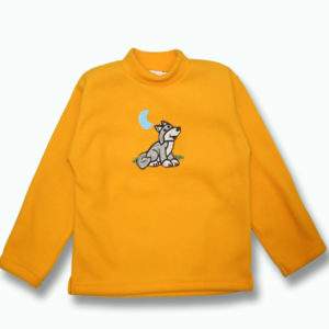 KID POLAR FLEECE PULLOVER WITH KID'S WOLF DESIGNS&TOWN NAME