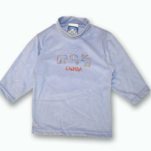 KID POLAR FLEECE PULLOVER WITH BEAR,FISH&MOOSE DESIGNS&TOWN NAME