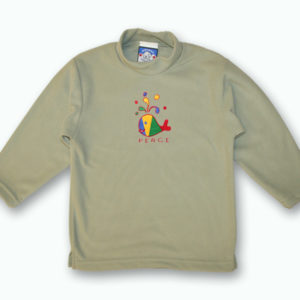 KID POLAR FLEECE PULLOVER W/WHALE MULTICOLOR DESIGNS&TOWN NAME