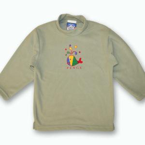 KID POLAR FLEECE PULLOVER W/WHALE MULTICOLOR DESIGNS&TOWN NAME