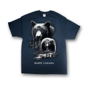 KIDS T-SHIRT WITH QUADRATONE BLACK BEAR & TOWN NAME