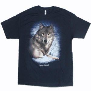 ADULT T-SHIRT W/REALISTIC WOLF