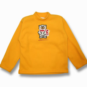 KID POLAR FLEECE PULLOVER W/POLAR BEAR APPL.EMBROIDERY&TOWN NAME