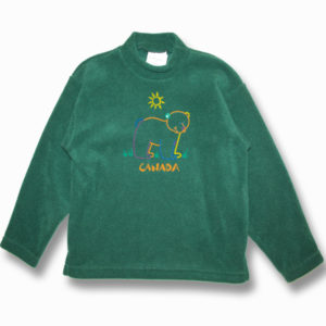 KID POLAR FLEECE PULLOVER W/BEAR OUTLINE EMBROIDERY & TOWN NAME