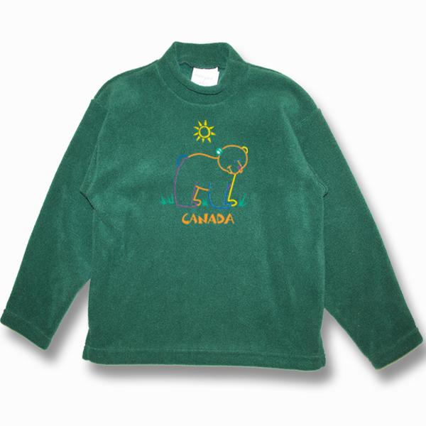 KID POLAR FLEECE PULLOVER W/BEAR OUTLINE EMBROIDERY & TOWN NAME